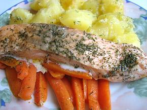 Снимка 1 от рецепта за Сьомга с моркови