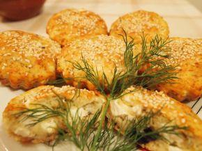 Снимка 1 от рецепта за Солени мъфини със сирене, маслини и копър
