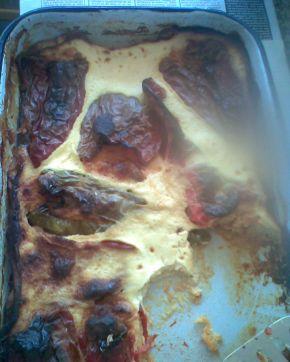 Снимка 1 от рецепта за Пълнени пиперки с яйца и сирене
