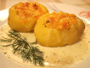 Снимка 1 от рецепта за Пълнени зеленчукови картофки
