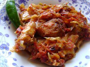 Снимка 1 от рецепта за Заек със зеле и домати