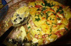 Снимка 1 от рецепта за Картофи с бекон и сметана