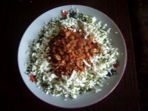 Снимка 1 от рецепта за Фусили с кайма и сирене