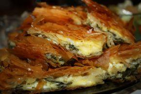 Снимка 1 от рецепта за Баница със сирене и спанак