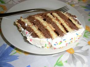 Снимка 1 от рецепта за Различна бисквитена торта
