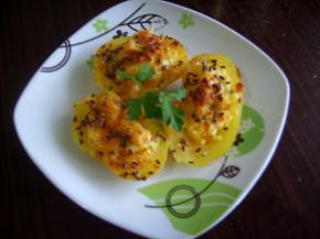 Снимка 1 от рецепта за Картофени лодки с млечна плънка
