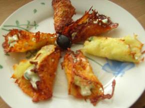 Снимка 1 от рецепта за Кашкавалени фунийки