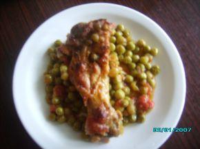 Снимка 1 от рецепта за Патешко с грах