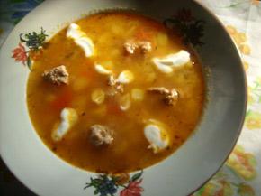 Снимка 1 от рецепта за Супа топчета с арпа фиде