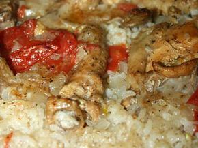 Снимка 1 от рецепта за Пилешки бутчета и крилца  с ориз