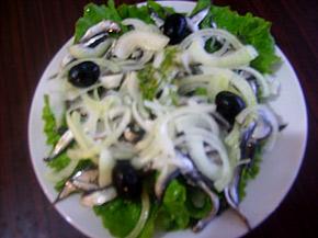 Снимка 1 от рецепта за Салата от маринована цаца