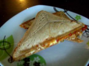 Снимка 1 от рецепта за Триъгълен сандвич