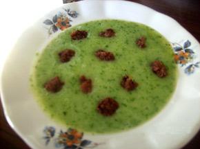 Снимка 1 от рецепта за Спаначена супа с кюфтенца