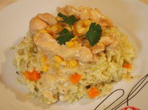 Снимка 1 от рецепта за Жълто пиле върху канапе от ориз