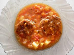 Снимка 1 от рецепта за Манджичка с печени кюфтенца