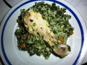 Снимка 1 от рецепта за Пиле със зелен ориз