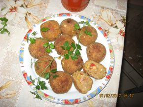 Снимка 1 от рецепта за Пълнени картофени кюфтета