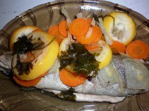 Снимка 1 от рецепта за Печена пъстърва със зеленчуци