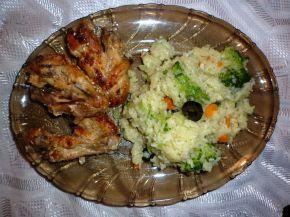 Снимка 1 от рецепта за Пилешки крилца с мед и сусам
