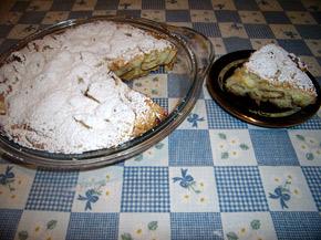 Снимка 1 от рецепта за Сладкиш с бисквити и ябълки
