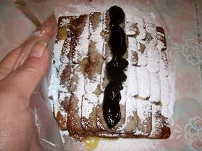 Снимка 1 от рецепта за Бисквитено руло