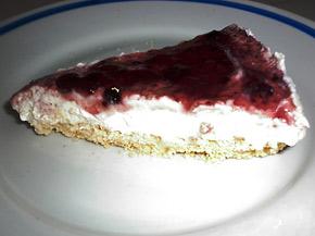 Снимка 1 от рецепта за Чийзкейк със сладко от боровинки
