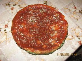 Снимка 1 от рецепта за Чийзкейк с хляб и сладко от дюли