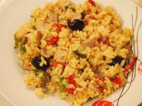 Снимка 1 от рецепта за Пиле с ориз, маслини и чушки