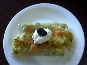 Снимка 1 от рецепта за Канелони със спанак и сирене