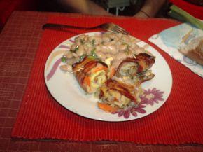 Снимка 1 от рецепта за Рулца с бекон и зеленчуци
