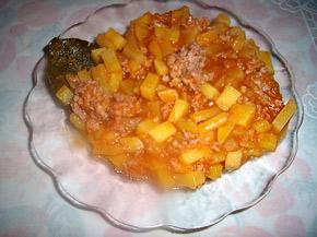 Снимка 1 от рецепта за Картофи с кайма