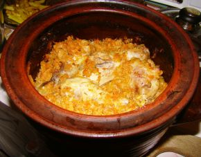 Снимка 1 от рецепта за Печено прясно зеле с пилешко