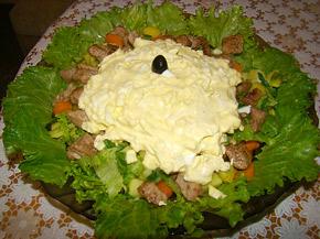 Снимка 1 от рецепта за Селска салата с месо