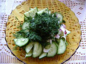 Снимка 1 от рецепта за Салата с краставици и копър