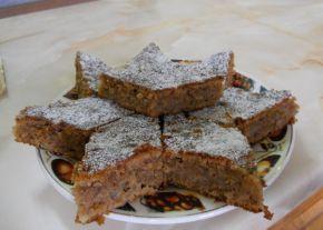 Снимка 1 от рецепта за Сладкиш с ябълки и орехи