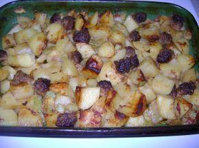 Снимка 1 от рецепта за Печени кюфтета с картофи и тиквички
