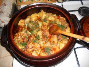 Снимка 1 от рецепта за Гювеч с пиле и пресни зеленчуци