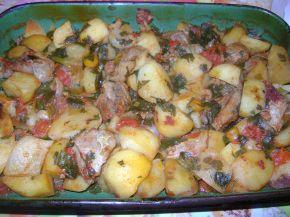 Снимка 1 от рецепта за Печено телешко с картофи и домати