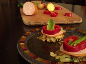 Снимка 1 от рецепта за Мини картофени палачинки с пилешко месо
