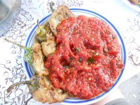 Снимка 1 от рецепта за Панирани чушки с доматен сос