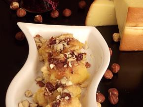 Снимка 1 от рецепта за Панирана пушена гауда със сладко от горски плодове