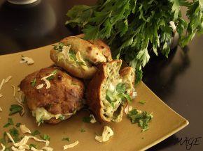 Снимка 1 от рецепта за Еклери с коприва, сушен лук и пълнеж със скаморца