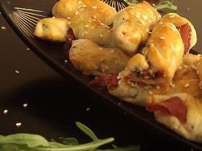 Снимка 1 от рецепта за Пурички с прошуто и рукола
