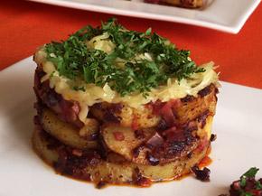 Снимка 1 от рецепта за Брат картофи с кашкавал