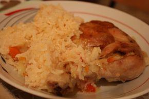 Снимка 1 от рецепта за Пилешки бутчета с ориз