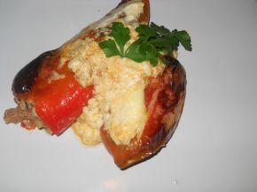 Снимка 1 от рецепта за Пълнени пиперки с кайма, розмарин и мащерка