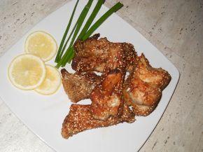 Снимка 1 от рецепта за Пържен толстолоб със соев сос и сусам