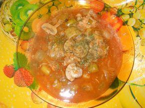Снимка 1 от рецепта за Ястие с пилешко месо, гъби и праз
