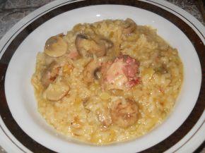 Снимка 1 от рецепта за Ориз с пилешко, гъби и къри