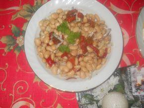Снимка 1 от рецепта за Бобена салата с червени чушки